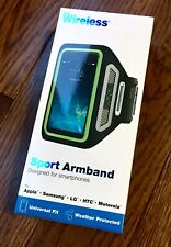 Just Wireless Sport Armband Reflective Universal Size Fits Cell Phone Holder Arm