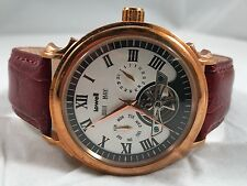 LOWELL AUTOMATIC WATCH ROSE GOLD / IVORY DIAL / AUBURN LEATHER BAND