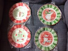 Avon Snowman Desert Collector Plates(4)