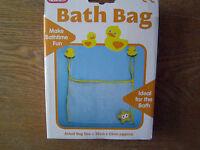 KIDS/BABY BATH TOY TIDY TILE HANGING DUCK SUCTION HOOKS STORAGE LARGE NET/BAG