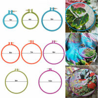 3-10 inch Plastic Circle Cross Stitch Machine Embroidery Hoop Ring Sewing Tool
