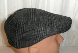 STETSON grey plaid ULTRASOFT driving Cap Hat SMALL / MEDIUM