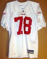2011 SAN FRANCISCO 49ERS DEMARCUS DOBBS #78 WHITE NFL Size XXL PRACTICE JERSEY