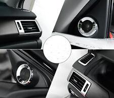 7pcs Car Air Vent Door Speaker Chrome For Honda Accord 2013 2014 2015 2016 2017