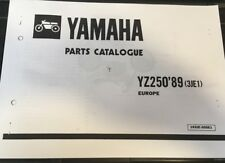 YAMAHA YZ 250 PARTS LIST MANUAL CATALOGUE 1989 3JE1 paper bound copy nos