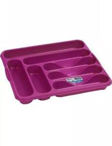 Cutlery Tray Organizer Fuchsia Pink