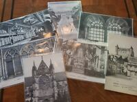 French Vintage Early 1900's Architecture Lot Of 7 Postcards (A4)