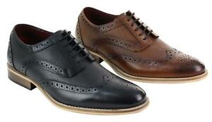Chaussures homme cuir noir marron style brogue Oxford avec lacets Peaky Blinders