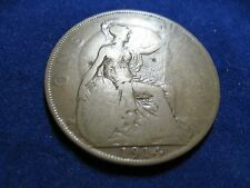 1914 GEORGIVS V KING GEORGE UK GREAT BRITAIN PENNY COIN CIRCULATED