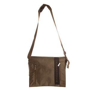 TRUSSARDI JEANS Canvas Messenger Bag Large Adjustable Strap Laptop Pocket Flap
