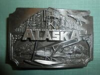"""VINTAGE 1990 COMMEMORATIVE """"ALASKA"""" BELT BUCKLE ~ 19 of 3000"""