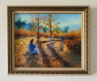 "Perfect autumn days. Original framed oil on canvas 16""x20"" painting from artist"