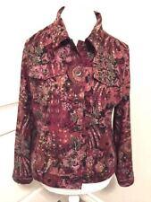 Christopher Banks Sz PL Multicolor Paisley Floral Button Front Jacket 1019