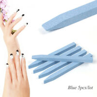 5pcs Quartz Stone Nail File Professional Sanding Buffer Block V-Shape Nail Art C