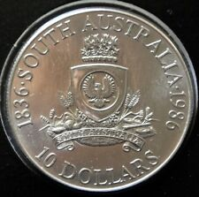 1986 SOUTH AUSTRALIA - $10 DOLLARS  .925 SILVER UNC - State Series - Jubilee 150