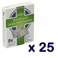25 boîtes de Premium Non Adhérent secours antiadhésif Pansement coussinets 5 X