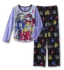 Monster High Pajamas Girls Size 14/16 XL 2 piece set Top/Shirt/Pants Winter NEW