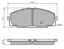 Set of EB Front Brake Pad's to fit Toyota Hi-Ace 83 ->, Dyna 01 ->