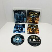 XCOM Enemy Unknown And Enemy Within Sony PlayStation 3 PS3 With Manual Lot Of 2