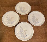 Noritake Keltcraft Ireland KILKEE 9109 Set of 4 Dinner Plates Blue Floral