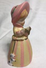 Vintage 1978 Jasco Merribells Little Girl Bisque Porcelain Figurine/Bell