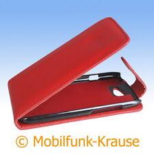 Flip Case Etui Handytasche Tasche Hülle f. HTC One S (Rot)