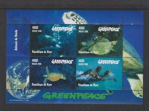 Niger - 1998, Greenpeace, Turtles Marine Life sheet - MNH