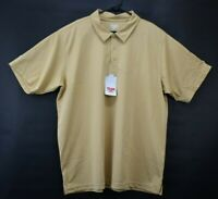 Team 365 Men's Size 2XL Unbranded Gold Colored 3 Button Short Sleeve Polo Shirt
