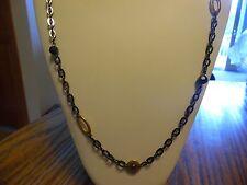 """Lia Sophia """"Modesto"""" Necklace 36-39 inches Gold & Black NWT"""