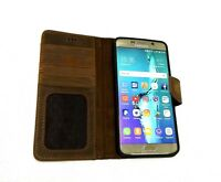 Samsung Galaxy Note 3 4 5 8 Note Edge Brown Real Leather Phonecase Card Holder
