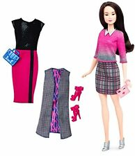 Barbie Fashionista Asian Doll with 2 Additional Outfits