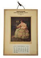 1916 Adv Calendar Now I Lay Me Down To Sleep Babies Insurance Agency Saginaw MI