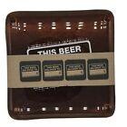 THIS BEER BELONGS TO glass coasters set of 4, Retail $44.99
