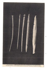 pro alésia  , série de morceaux d'os et d'aiguilles en os