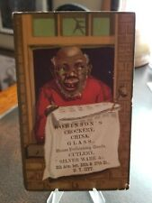 Vintage 1880s Trade Card - Black Americana Robinsons Crockery China Glass Nyc
