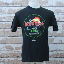 Hard Rock Cafe Y2K Millennium Lima Peru T Shirt sz Large L Black
