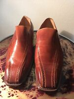 Vintage Italian tan chisel mens shoes,unworn new old stock,sz 8,9,11.