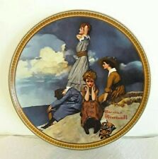 Waiting On The Shore By Norman Rockwell Knowles Collector Plate