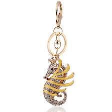 Porte-clé Sac à main charme accessoires unique or hippocampe Porte clé chaines