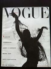VOGUE Italia 1989 Italy rare sexy-esplosivo, nero e bronzo, stile tangeri