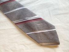 Mens Gray Red Pink Tie Necktie (8831)