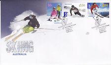 2011 Skiing Australia - FDC (Gummed) Jindabyne NSW 2627 PMK