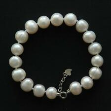 Real Freshwater 11mm Pearl Bracelet & Silver Clasp