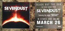 SEVENDUST Black Out The Sun Ltd Ed New RARE Stickers +FREE Rock/Metal Stickers