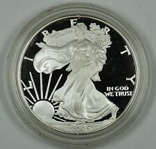 2005 Proof American Eagle Silver Dollar Coin, 1 Troy Oz .999 Fine
