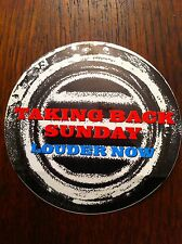 Taking Back Sunday promo sticker for Louder Now cd Round