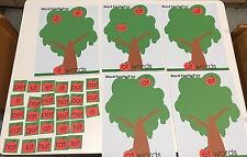 Cvc Word Family Tree - Sorting - Laminated Mats and 30 Apple Word cards.