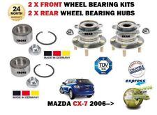 für Mazda CX7 2.2dT 2.3 TURBO DISI 2007- > 2x Front + 2 x Heck Kit Radlager