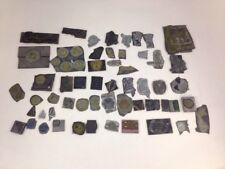 Vintage Typesetting Glyph Stamps Car Logos Lions Club Mixed Lot of Print Images