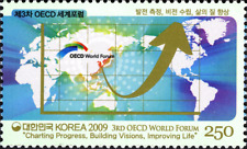 KOREA 2010  OECD World Forum     Mint NH stamp